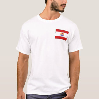French Polynesia Flag and Map T-Shirt