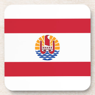 French Polynesia Flag Beverage Coaster