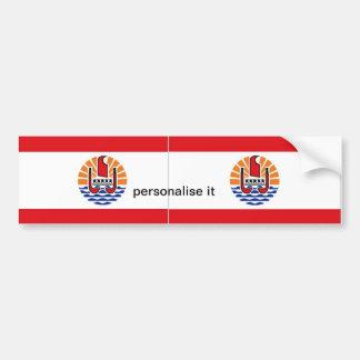 French Polynesia flag bumper sticker Car Bumper Sticker
