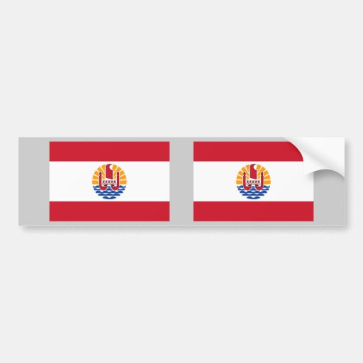 French Polynesia Flag Bumper Stickers