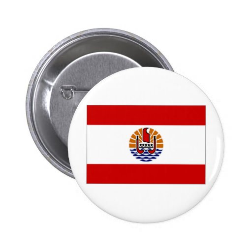 French Polynesia Flag Buttons