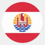 French Polynesia, flag Classic Round Sticker