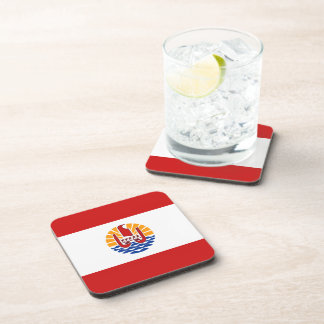 French Polynesia Flag Coaster