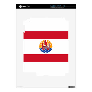French Polynesia Flag, Drapeau Polynésie Française Decals For The iPad 2