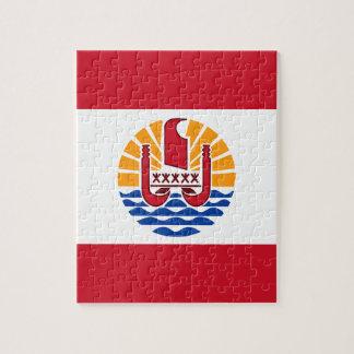 French Polynesia Flag, Drapeau Polynésie Française Jigsaw Puzzle