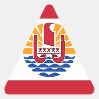 French Polynesia Flag, Drapeau Polynésie Française Triangle Sticker