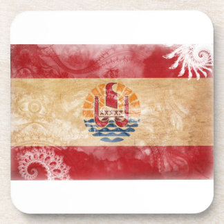 French Polynesia Flag Drink Coaster