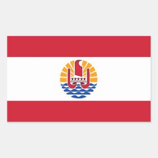 French Polynesia Flag. France, Outre-Mer Rectangular Sticker