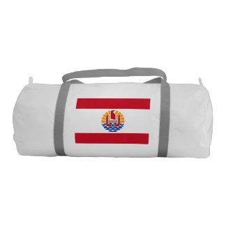 FRENCH POLYNESIA FLAG GYM DUFFEL BAG