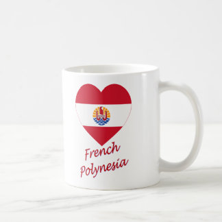 French Polynesia Flag Heart Coffee Mug