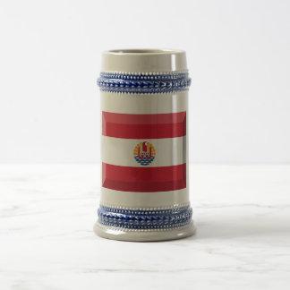 French Polynesia Flag Jewel Coffee Mug