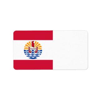 French Polynesia Flag Label