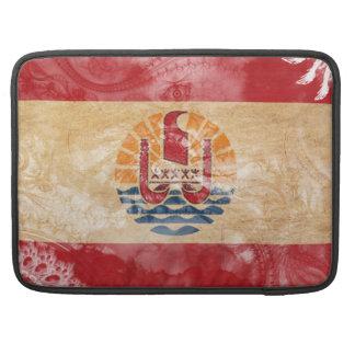French Polynesia Flag Sleeve For MacBooks