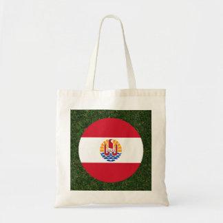 French Polynesia Flag on Grass Budget Tote Bag