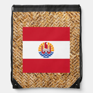 French Polynesia Flag on Textile themed Backpacks