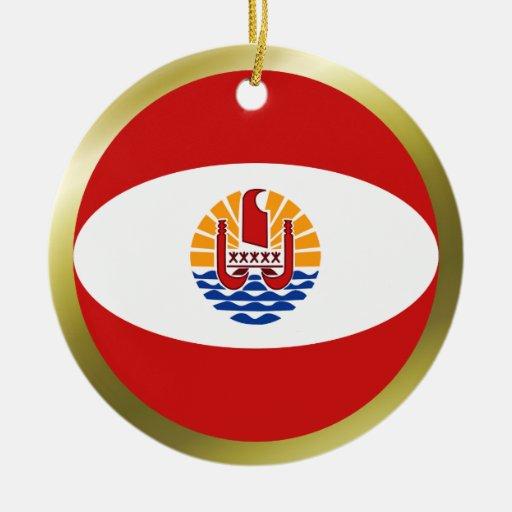 French Polynesia Flag Ornament