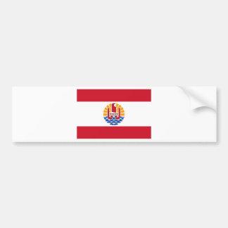 French Polynesia Flag PF Bumper Sticker