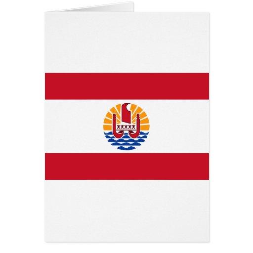 French Polynesia Flag PF Greeting Cards