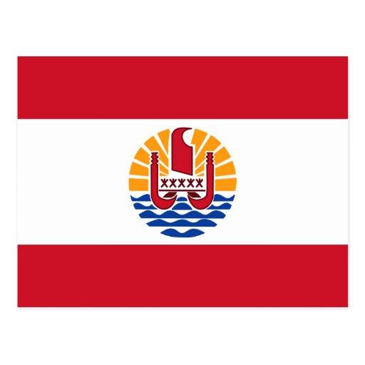 French Polynesia Flag PF Post Card