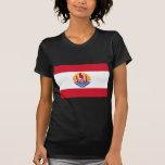 French Polynesia Flag PF Tee Shirt