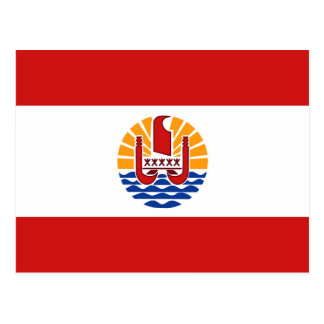 French Polynesia Flag Postcard