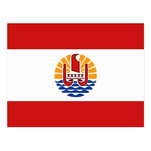 French Polynesia Flag Postcard