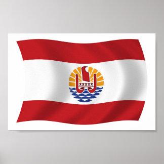 French Polynesia Flag Poster Print