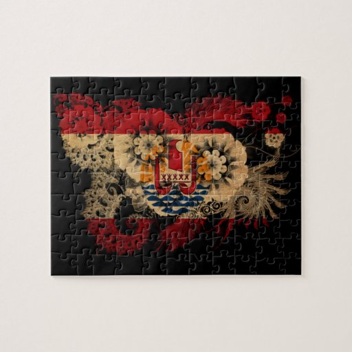 French Polynesia Flag Puzzles