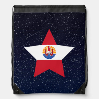 French Polynesia Flag Star In Space Backpack