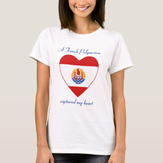 French Polynesia Flag Sweetheart T-Shirt