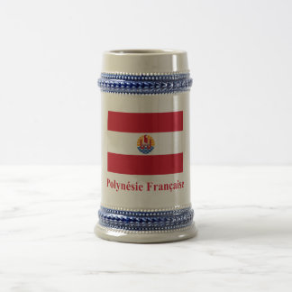 French Polynesia Flag with Name in French Mugs