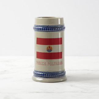 French Polynesia Flag with Name Coffee Mug