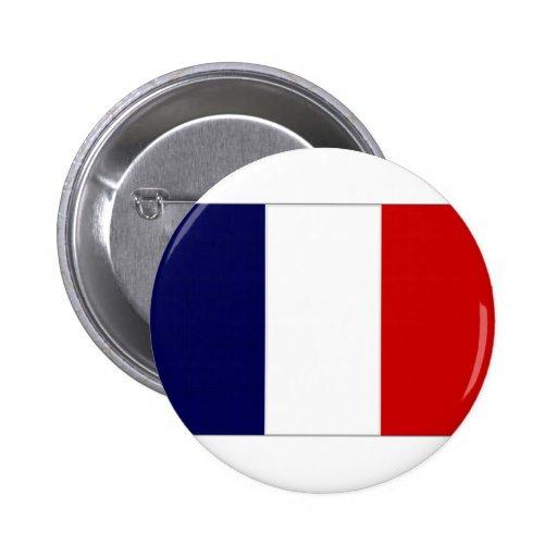 French Polynesia French National Flag Button