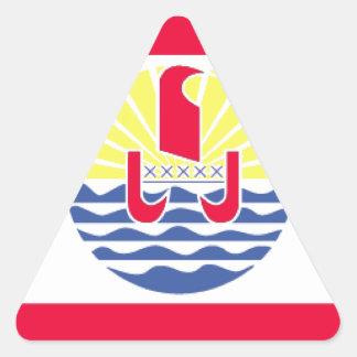 French Polynesia.gif Triangle Sticker