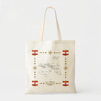French Polynesia Map + Flags Bag
