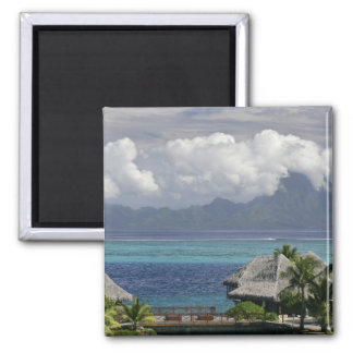 French Polynesia, Moorea. A view of the island 2 Inch Square Magnet