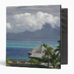 French Polynesia, Moorea. A view of the island Binders