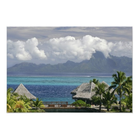 French Polynesia, Moorea. A view of the island Photo Print