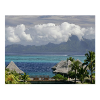 French Polynesia, Moorea. A view of the island Postcard