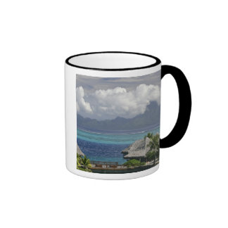 French Polynesia, Moorea. A view of the island Ringer Mug