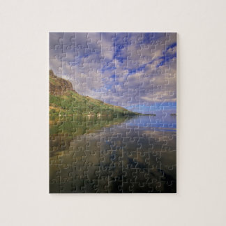 French Polynesia, Moorea. Cooks Bay. Cruise ship 2 Jigsaw Puzzle