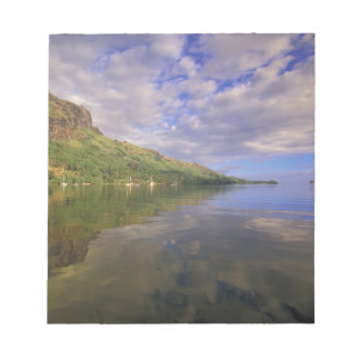 French Polynesia, Moorea. Cooks Bay. Cruise ship 2 Notepad