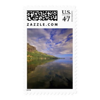 French Polynesia, Moorea. Cooks Bay. Cruise ship 2 Postage