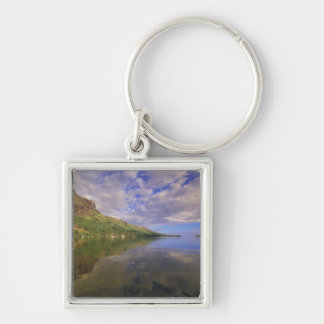 French Polynesia, Moorea. Cooks Bay. Cruise ship 2 Silver-Colored Square Keychain
