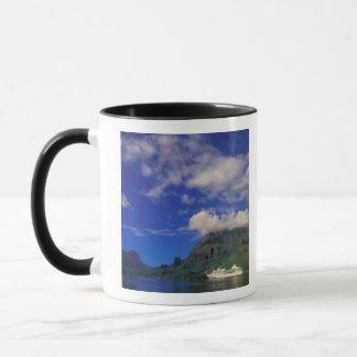 French Polynesia, Moorea. Cooks Bay. Cruise ship 3 Mug