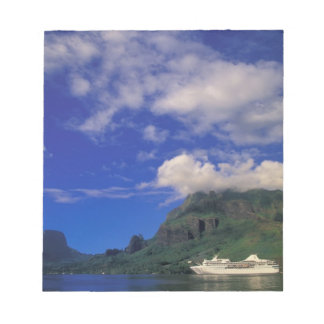 French Polynesia, Moorea. Cooks Bay. Cruise ship 3 Notepad