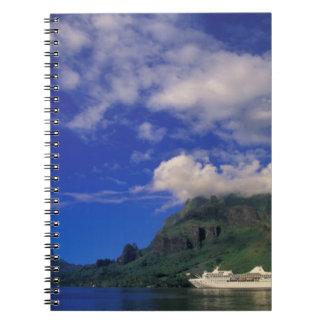 French Polynesia, Moorea. Cooks Bay. Cruise ship 3 Spiral Notebook