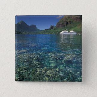 French Polynesia, Moorea. Cooks Bay. Cruise ship Button