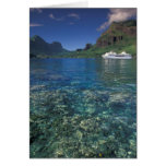 French Polynesia, Moorea. Cooks Bay. Cruise ship Greeting Cards