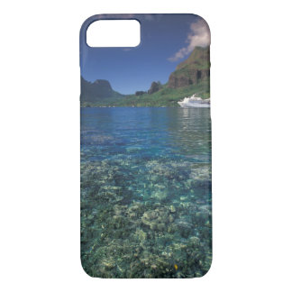 French Polynesia, Moorea. Cooks Bay. Cruise ship iPhone 8/7 Case